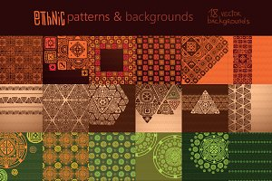 Ethnic patterns and backgrounds