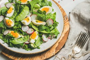 Healthy salad with radish & egg