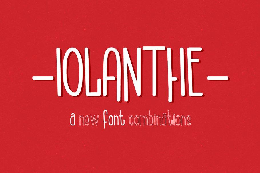 Iolanthe. Retro Handwritten Font.