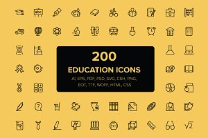 200 Education Icons