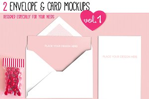 Envelope & Card Mockups Vol. I