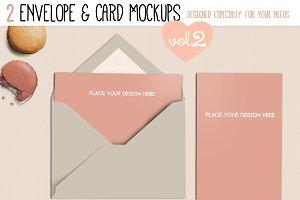 Envelope & Card Mockups Vol. II