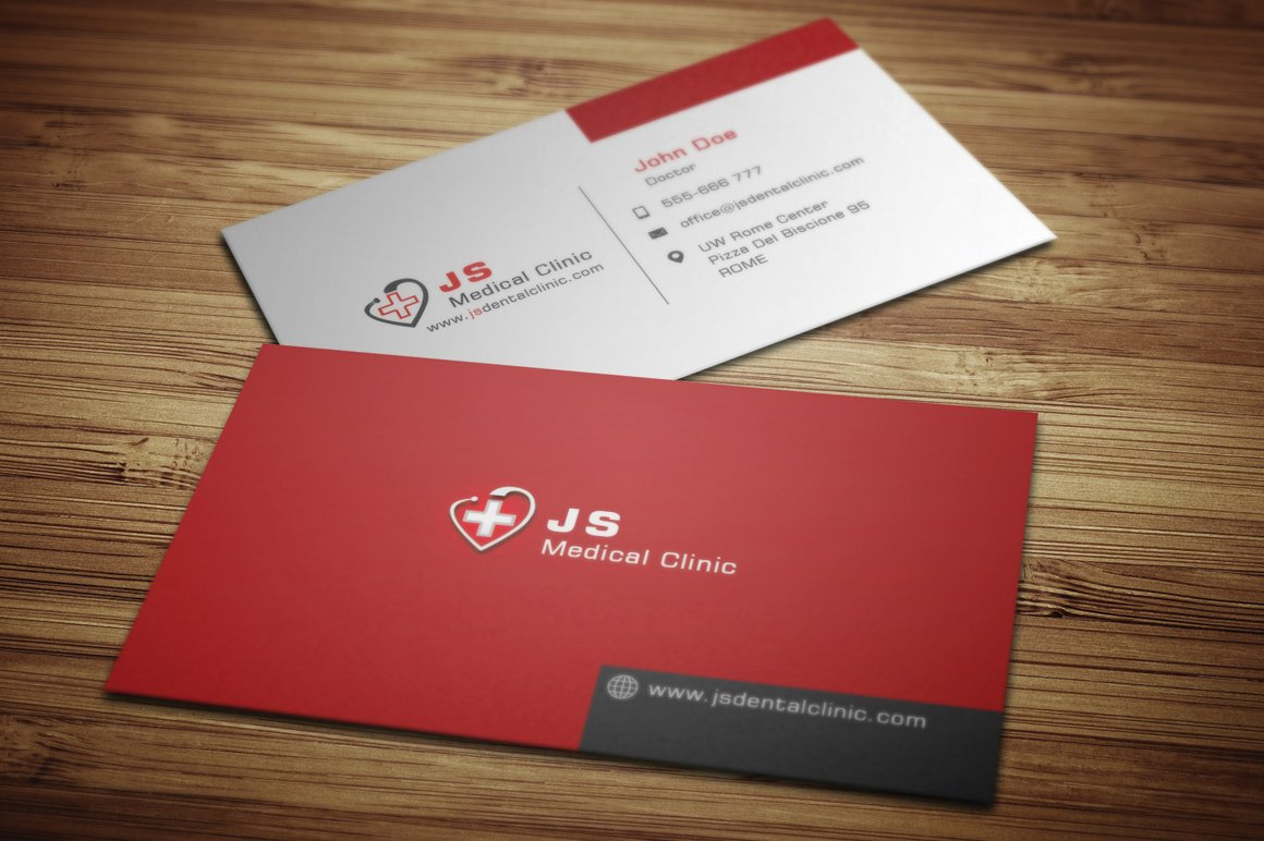 medical business card business card templates creative market - Doctor Business Card