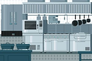 Kitchen flat illustration