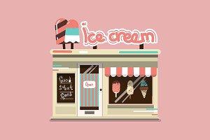 Ice cream cafe