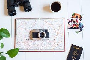 Adventure Travel Styled Stock Photo