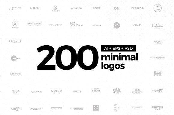 200 Minimal Logos AI EPS PSD