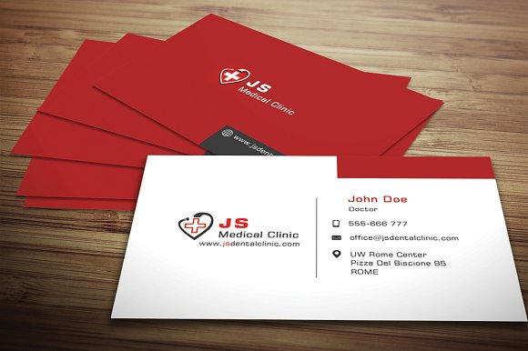 medical business card business card templates creative market - Medical Business Cards
