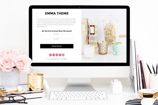 WordPress Landing Page Themes: Bluchic - Emma - Landing Page Theme