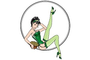 Pin-up for St.Patrick day