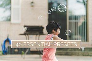 40 Essential Lightroom Presets