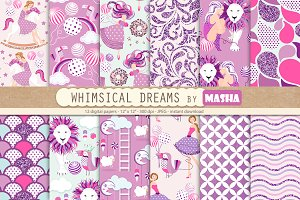 WHIMSICAL DREAMS digital paper