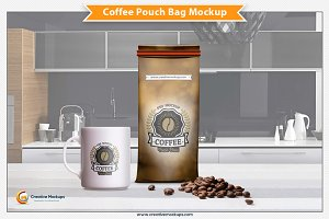 Coffee Pouch Bag Mockup