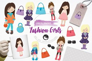 Fashion girls illustration pack