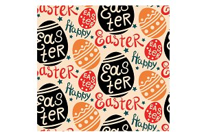 Happy Easter Colorful Pattern