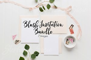 Blush Invitation Lay Flat Bundle
