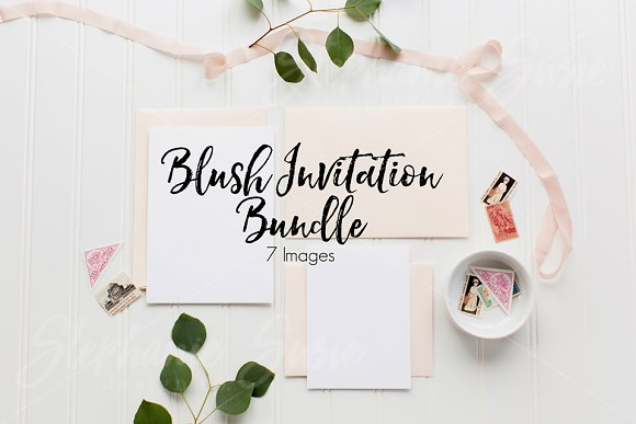 Download Blush Invitation Lay Flat Bundle