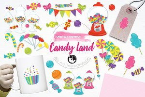 Candy land illustration pack
