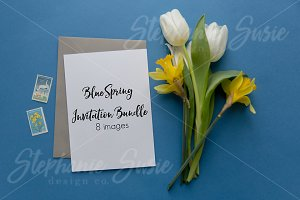 Blue & Grey Invitation Bundle