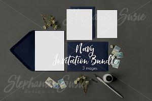 Navy Invitation Lay Bundle