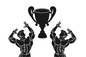 bodybuilding competition, sports cup