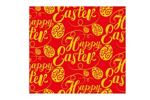 Happy Easter Red Pattern