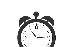 clock icon, vector illustration