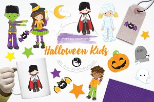 Halloween kids illustration pack