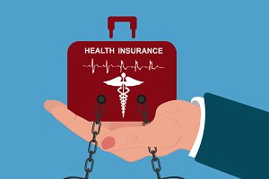 health insurance burden, vector