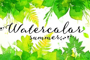15 watercolor summer backgrounds