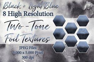 Two-Tone Foil Textures - Black/Blue
