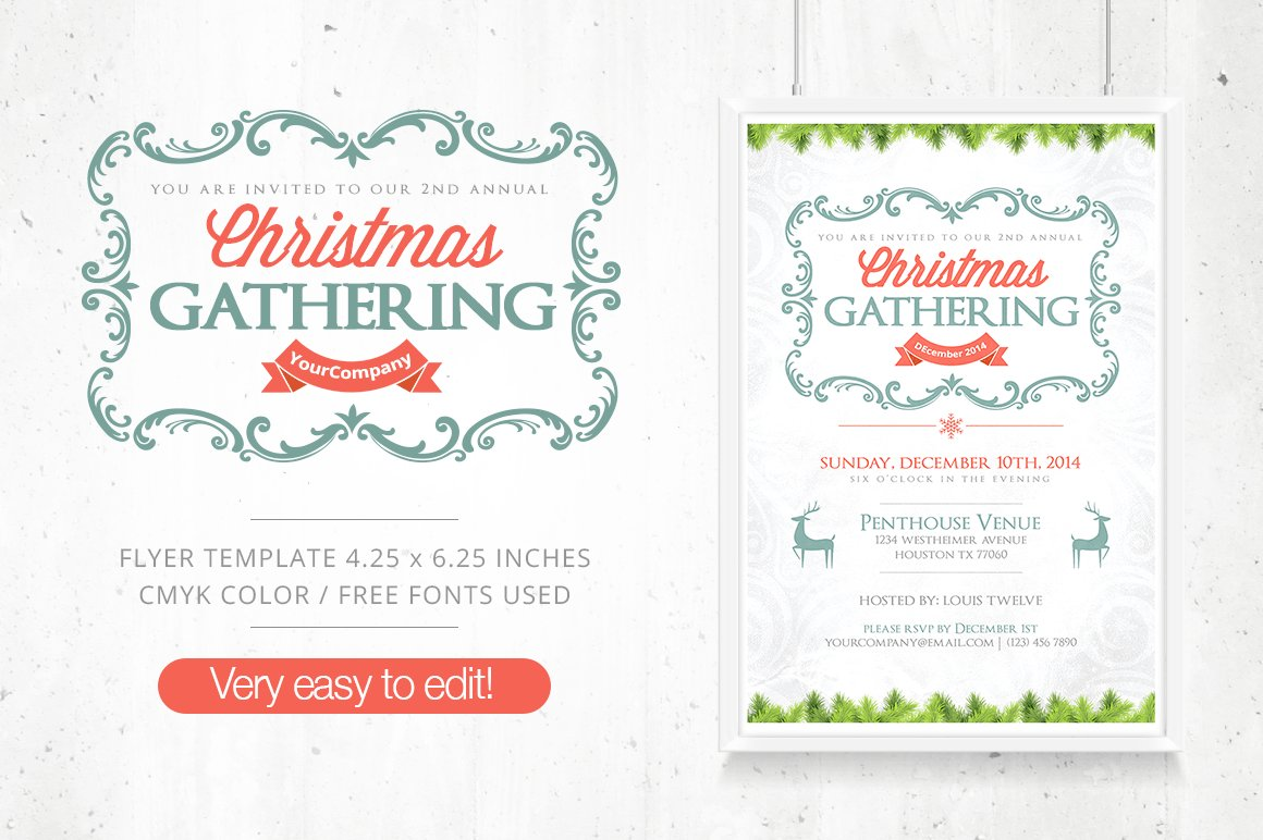 50 brand new christmas designs to inspire your holiday projects christmas gathering flyer fb cover