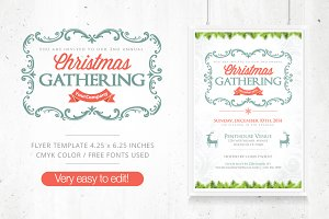 Christmas Gathering Flyer + FB Cover