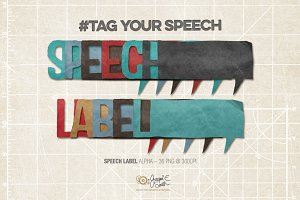 Speech Labels Alphabet