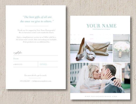 Photographer Gift Card Design