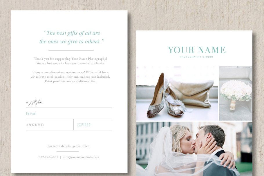 Photographer Gift Card Design Card Templates Creative Market Pro