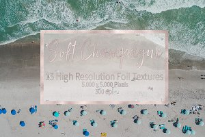 Soft Champagne Foil Textures