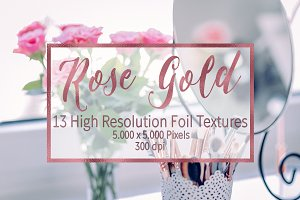 Dark Rose Gold Foil Textures