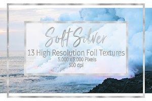 Soft Silver Foil Textures
