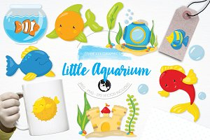 Fish aquarium illustration pack