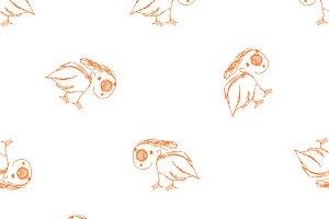 Birds Drawing Pattern