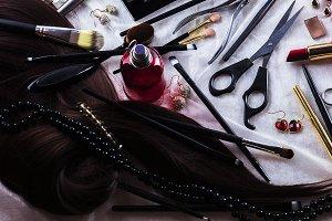 Different decorative cosmetics