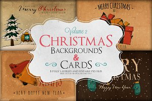 Christmas Background & Cards Vol.2