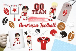 American football illustration pack