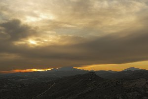 Sunset in the mountains of Elche