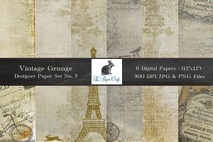 Vintage Grunge Background Papers #3
