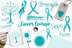 Cancer courage illustration pack