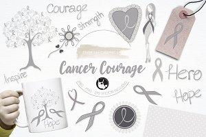 Cancer awareness illustration pack