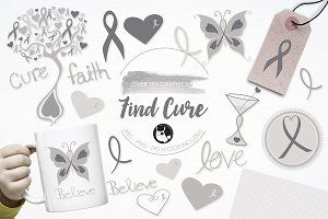 Find a cure illustration pack