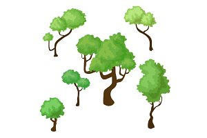 Set of isometric trees